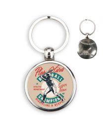 porte clés photo balle de baseball