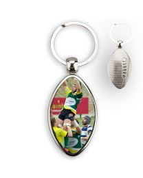 Porte-clés photo ballon de rugby