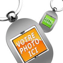 Porte clé photo rotatif carré
