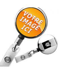porte clé personnalisé a fil enrouleur