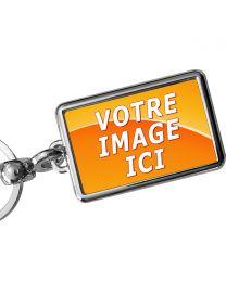 Porte-clef Métal Rectangle 40x25mm