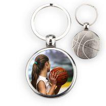 Porte-clé ballon de basket face