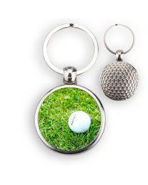 Porte-clé balle de golf dos