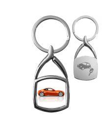 porte-clés en métal photo carré arrondi - off