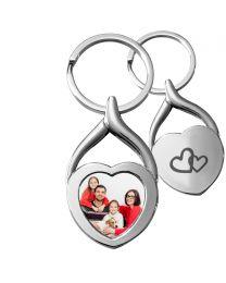 porte clés métal coeur personnalisé - off