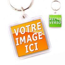 Porte-clé Personnalisé Cristal Carre 32 mm