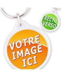 Porte-clé Personnalisé Cristal Rond 33 mm