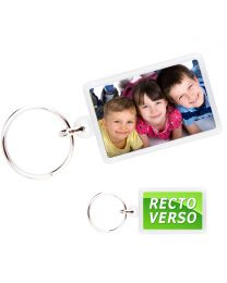 Porte-Clé photo cristal rectangle 40x25 - off