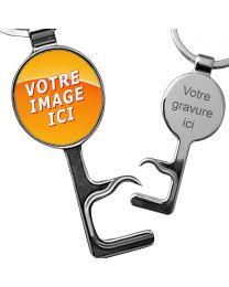 porte clés photo décapsuleur ovale