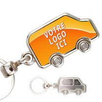 Porte clés photo métal camionnette