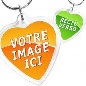 porte clés cœur personnalisé photo