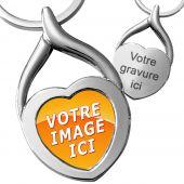 porte clés métal coeur personnalisé