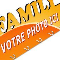 Accroche clés photo famille