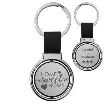 Porte-clés gravé rotatif