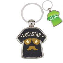 Porte clés métal personnalisé T-Shirt - off