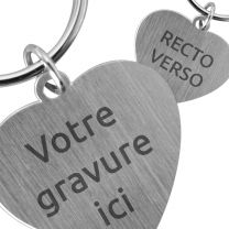 Porte clés métal coeur