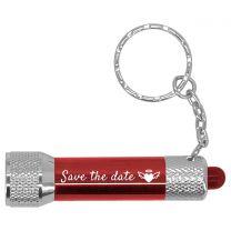 Porte-clés Lampe Torche Rouge LED