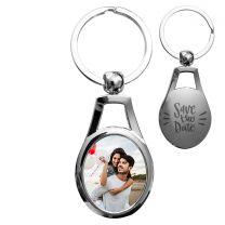 porte clés personnalisé métal oval ornemental - off