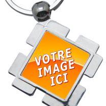 porte clés photo losange design