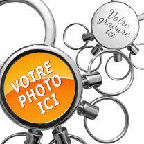 Porte clés photo multi anneaux