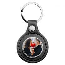 porte clés rond cuir et métal personnalisé - off