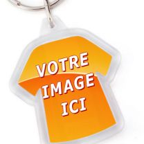 Porte-clé photo t-shirt plastique