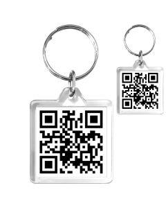 Porte-clé Personnalisé Cristal Carre QR Code