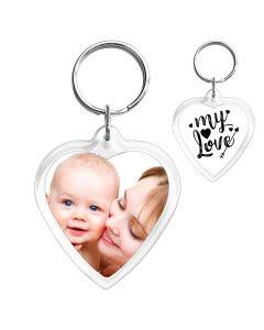 porte clés cœur personnalisé photo - off