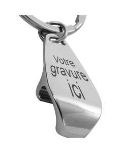 Porte-clés décapsuleur gravé métal