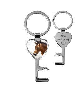 porte clés décapsuleur photo coeur - off