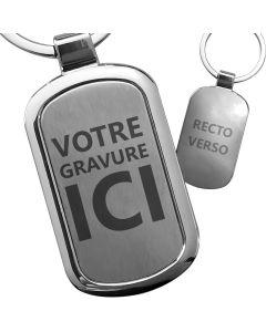 Porte-clés gravé luxe homme