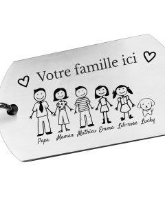 Porte-clés gravé ma petite famille