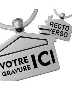 Porte-clés gravé maison