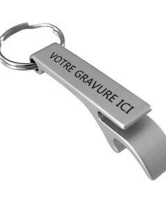 Porte-clés gravé métal décapsuleur