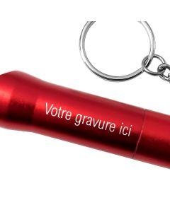 Porte clés lampe personnalisé gravé rouge