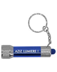 Porte-clés Lampe Torche Bleu LED