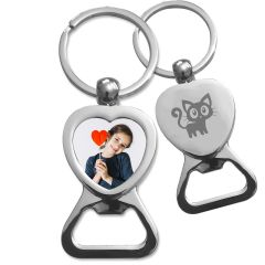 porte clés coeur décapsuleur personnalisé - off