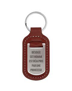 Porte clés métal personnalisé homme