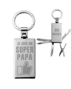 Porte-clés personnalisé couteau suisse - off