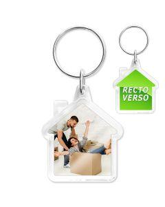 Porte-clés personnalisé Cristal Maison - off