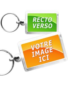 Porte-Clé photo cristal rectangle 40x25