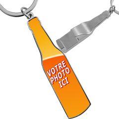 porte clés photo décapsuleur bouteille personnalisé