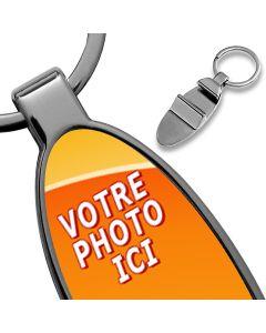 porte clés photo décapsuleur ovale personnalisé