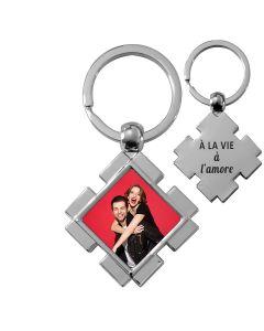 porte clés photo losange design off