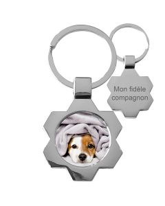 porte clés photo métal design - off