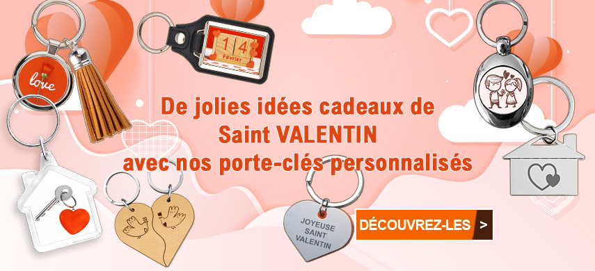 Joyeuse saint valentin avec mon-porte-clef.fr