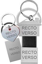 Porte-clés avec votre gravure