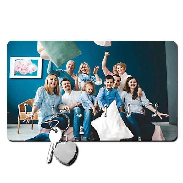 accroche-clés personnalisé photo famille grande taille
