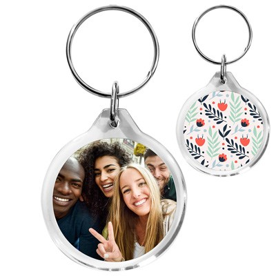 porte-cles plastique personnalisé photo souvenir entre amis