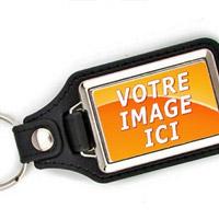 Porte-clés personnalisé en cuir synthétique